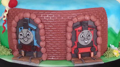 Childrens Thomas the Tank Engine birthday cake