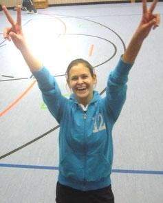 So sehen Sieger aus: Sandra Köbrunner feiert den Sieg gegen Tiefenbach