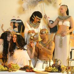 Altägyptische Bankettszene, Foto: André Elbing