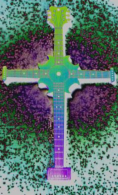 Instruments on Body, Schmuck für Musiker, Halsschmuck für Musiker, Halsschmuck, Kreuz, Fashion for Musician, Geschenk für Musiker, Schmuck für Gitarristen, Halsschmuck für Gitarristen, Geschenk für Gitarristen.