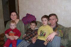 """Eine Familie von vielen, die von der """"Organisation"""" unterstütz wird"""