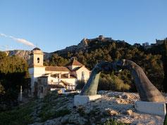 Xativa Jativa Burg Schloss Aussicht Berg Hände
