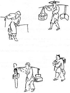 Dessins extraits du Jieziyuan huazhuan.