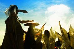 """Foto dello spettacolo """"Caligola"""" da Albert Camus, regia di Gennaro Duccilli"""