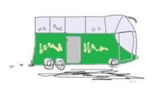 Grafik eines Reisebusses oder Fernbusses