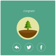 Glückwunsch! Ich habe 25 Minuten durchgehalten und einen virtuellen Baum gepflanzt, den ich mit meinem sozialen Netzwerk teilen kann.