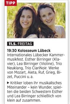 Geigerin Lea Birringer im Concerti Magazin