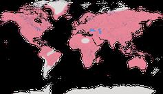 Karte zur Verbreitung der Rabenvögel