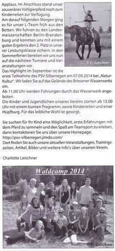 """""""Odervorland Kurier"""", August-Ausgabe 2014"""