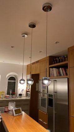 Kundenfoto DEW LED-Pendelleuchten über der Küchenbar