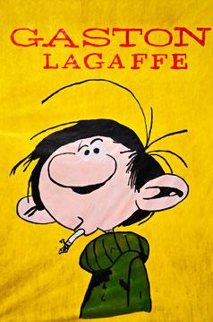 Comic, guston, Raucher, Belgien, Frankreich, Paris, Divo Santino, Papier, grüner Pullover, Segelohren