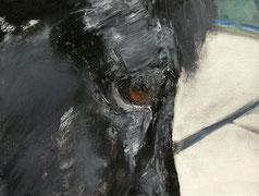 Mökkvi, Öl auf Baumwollgewebe, 30 x 40 cm, 2004