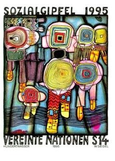 Les penseurs © Hundertwasser