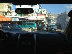 Hier wird deutlich, auf wessen Gebiet man sich in Baalbek befindet: Hisbollah-Chef Nasrallah und Noch-Staatspräsident Syriens Assad auf einem großen Plakat.
