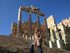 Gewaltige Tempelanlagen in Baalbek.