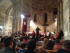 Am Abend des Konzert von Lottis Barock-Ensemble.