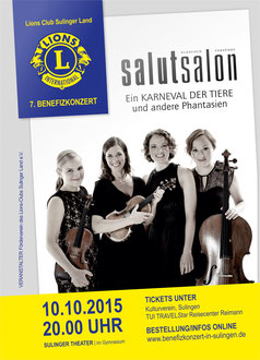 Plakat Lions Club Sulinger Land Benefiz Salut Salon