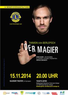 Plakat Lions Club Sulinger Land Benefiz Thimon von Berlepsch