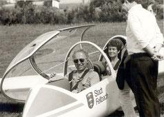 Frau Kiel als  Passagier im Twin