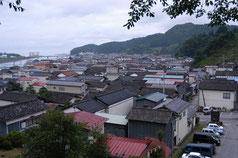 金剛寺の不動堂前から撮った震災前の風景