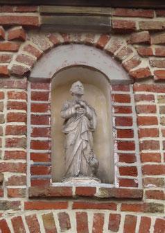 Flixecourt: une niche dédiée à Saint-Pierre- Ph: Jacques Fouré
