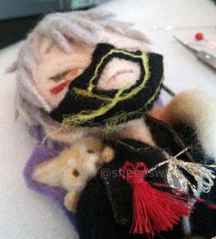 羊毛フェルト 作り方 刀剣乱舞 鳴狐