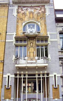 façade de la maison Cauchie à Bruxelles