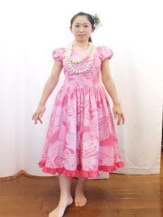 ミニパフスリーブボリュームギャザードレス