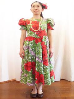 パフスリーブギャザードレス