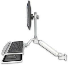 業務用モニターアーム ウォールチャネルマウント 昇降式 ディスプレイキーボード用アーム:ASUL182EV7-W5-KUP