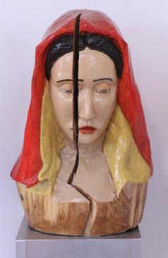 "Jan Gottschalk, ""Madonna II"", Skulptur, Holz / Lack"