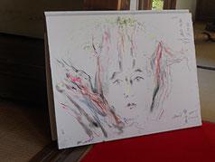 宝泉院で描いた風景画
