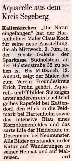 Segeberger Zeitung 30.05.2015