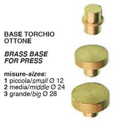 base torchio ottone per calzolai