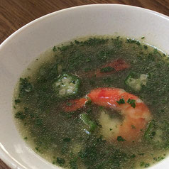 オクラとエビのスープ