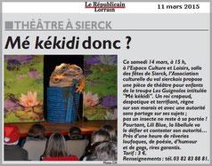 La ville de Sierck-lès-bains accueille Les Guignolos et son spectacle Mékékidi ?