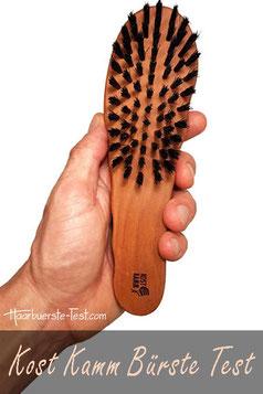 Kost Kamm Haarbürste Wildschweinborsten Test, Kost Kamm in Männerhand