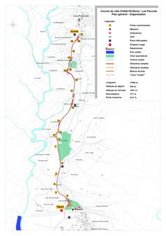 Streckenplan Les Paccots
