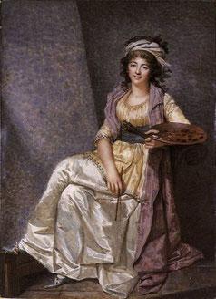 Marguerite Gérard à 32 ans, miniature sur ivoire © François Dumont, 1793, Wallace Collection, Londres