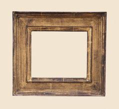 Stilkopie Renaissancerahmen, Echtgold, 23.75 Karat, ohne Ornament und Farbe, stark antik