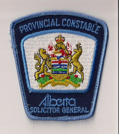 Provincial Constable - Alberta - Solicitor General  (Ancien / Obsolete)  (Usagé / Used)  1x