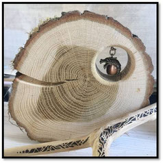 Baumscheiben als Deko