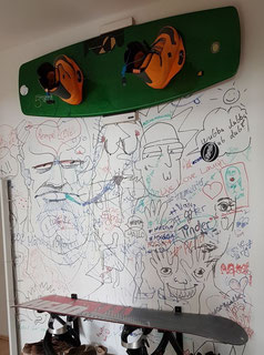 Wandhalterung Wandmontage Wakeboard horizontal vertikal Halterung wall mount