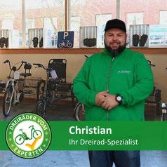 Dreirad Spezialist vom Dreirad-Zentrum Ahrensburg