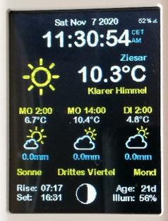 ESP32 ESP8266 Nodemcu touch ILI9341 weather station