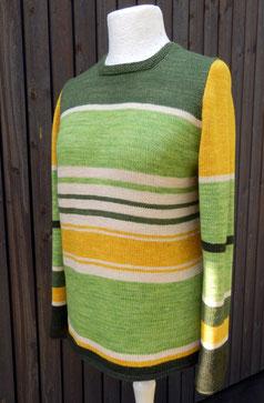 bunte wolle - Yak-Merino grüne Streifen
