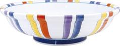 染錦赤十草_7.5麺鉢
