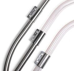 Breitbandschelle, Rohrkupplung, Rohrverbinder Edelstahl für die Saugförderung