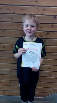 Im Teilnehmerfeld der Jugend U12 hat Frederik Schuster den 3. Platz erzielt.