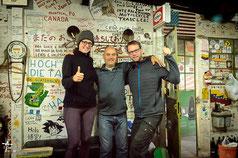 Argentinien - Südamerika - Reise - Motorrad - Honda Transalp - Bea & Helle mit Pollo vom La Posta del Viajero en Moto in Azul